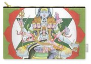 Tantrik Diagram Of Lord Shiva, Mantra Yantra ,indian Miniature Painting, Watercolor Artwork, India Carry-all Pouch