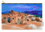 Taos Pueblo Village Carry-all Pouch by Elise Palmigiani