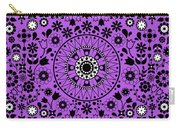 Tapiz Flores Black And White Carry-all Pouch