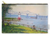 Tappan Zee Bridge And Light House Carry-all Pouch
