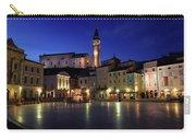 Tartini Square Plaza In Piran Slovenia With City Hall, Tartini S Carry-all Pouch