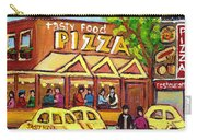 Tasty Food Pizza On Decarie Blvd Carry-all Pouch