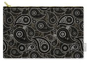 Taupe Brown Paisley Design Carry-all Pouch
