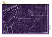 Tcu Street Map - Texas Christian University Fort Worth Map Carry-all Pouch