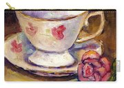 Tea Cup With Rose Still Life Grace Venditti Montreal Art Carry-all Pouch