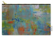 Teal Abstract, A New Look Again Carry-all Pouch