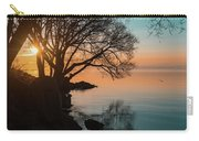 Teal And Orange Morning Tranquility With Rocks And Willows Carry-all Pouch