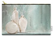 Teal And White Art Carry-all Pouch