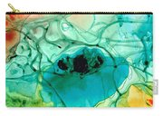 Teal Aqua Art - Connected - Sharon Cummings Carry-all Pouch
