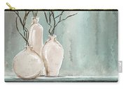 Teal Elegance - Teal And Gray Art Carry-all Pouch