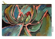 Teal Pink Succulent Carry-all Pouch