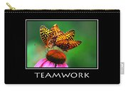 Teamwork Inspirational Motivational Poster Art Carry-all Pouch by Christina Rollo