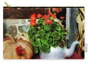 Teapot Filled With Geraniums Carry-all Pouch