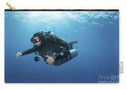 Technical Diver With Equipment Swimming Carry-all Pouch