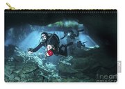 Technical Divers Enter The Cavern Carry-all Pouch by Karen Doody