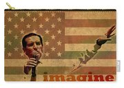 Ted Cruz For President Imagine Speech 2016 Usa Watercolor Portrait On Distressed American Flag Carry-all Pouch