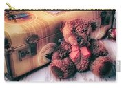 Teddy Bear And Suitcase Carry-all Pouch