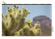 Teddy Bear Cholla Cactus With Flower Carry-all Pouch