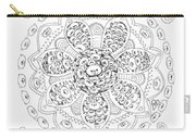 Teddy Bear Mandala Carry-all Pouch