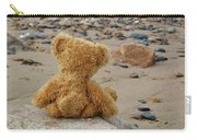 Teddy On A Beach Carry-all Pouch