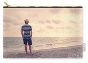 Teen Boy On Beach Carry-all Pouch
