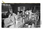 Teens At Soda Fountain Counter, C.1950s Carry-all Pouch