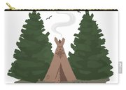 Teepee In The Woods Carry-all Pouch