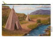 Teepees On The Plains Carry-all Pouch