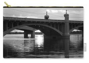 Tempe Town Lake Bridge Black And White Carry-all Pouch