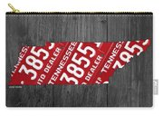 Tennessee State License Plate Map Carry-all Pouch