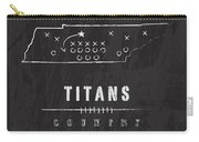 Tennessee Titans Art - Nfl Football Wall Print Carry-all Pouch