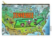 Tennessee Usa Cartoon Map Carry-all Pouch