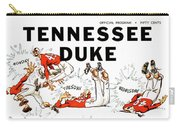 Tennessee Versus Duke 1955 Football Program Carry-all Pouch