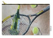 Tennis And Wine Carry-all Pouch