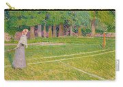 Tennis At Hertingfordbury Carry-all Pouch by Spencer Frederick Gore