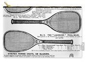 Tennis Rackets, 1887 Carry-all Pouch