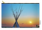 Tepee At Sunset Carry-all Pouch
