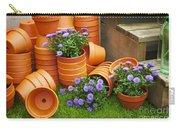 Terracotta Flower Pots Carry-all Pouch