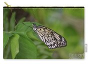 Terrific Capture Of A Paper Kite Butterfly On A Leaf Carry-all Pouch