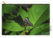 Terrific Eyespots On A Owl Butterfly On Leaves Carry-all Pouch