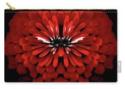 Test Red Abstract Flower 3 Carry-all Pouch