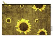 Test Rustic Sunflower Custom Carry-all Pouch