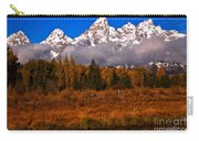 Teton Peaks Above Fall Foliage Carry-all Pouch