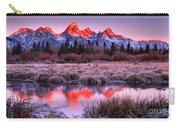 Teton Reflections In The Frosted Willows Carry-all Pouch