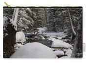 Teton River In Winter Carry-all Pouch