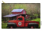 Texaco Truck On A Smoky Mountain Farm In Colorful Textures  Carry-all Pouch