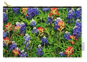 Texas Bluebonnets And Indian Paintbrush Carry-all Pouch