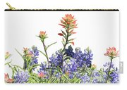 Texas Bluebonnets And Red Indian Paintbrushes Carry-all Pouch