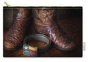 Texas Boots And Belt Buckle Carry-all Pouch