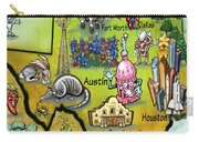 Texas Cartoon Map Carry-all Pouch